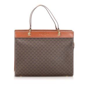 Brown Celine Macadam Handbag Bag
